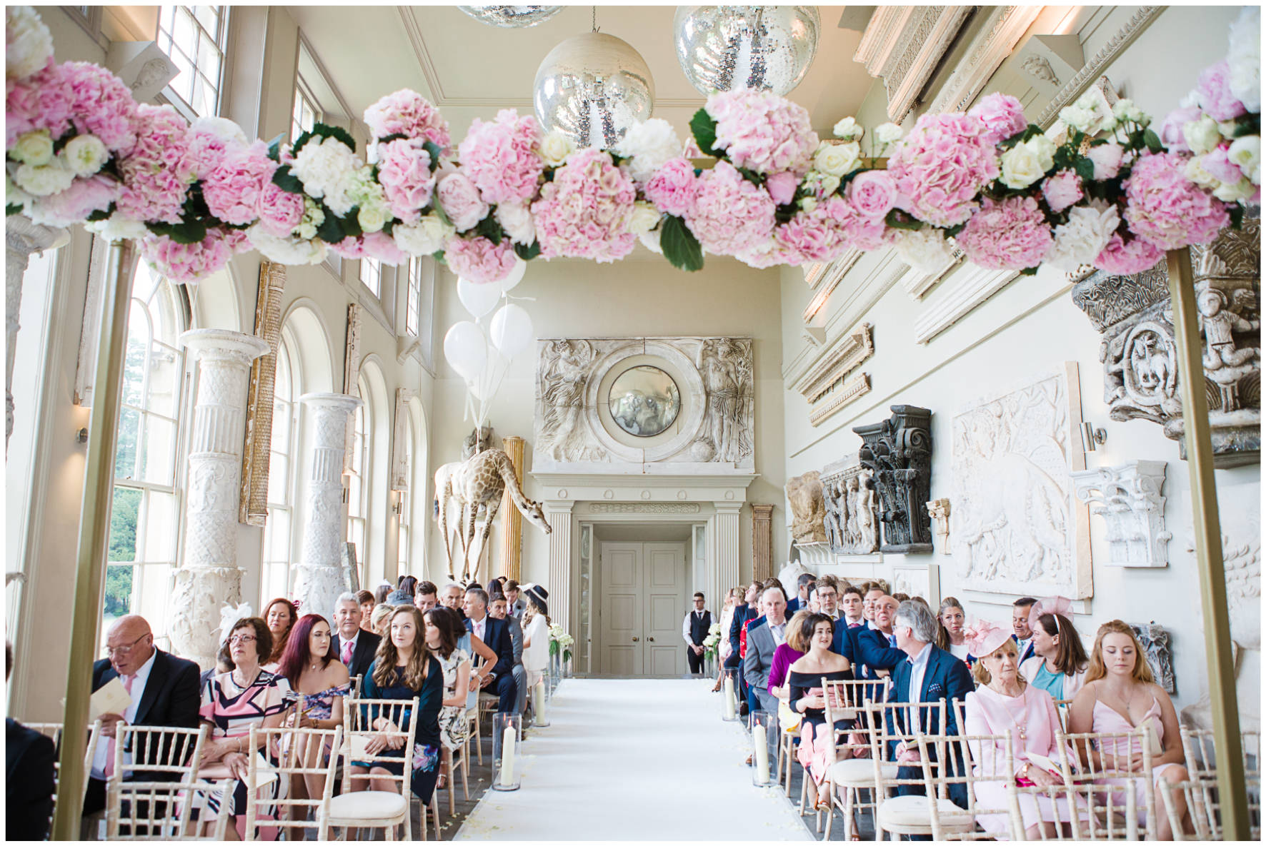 Lucy Davenport Photography, Aynhoe Park, Oxfordshire, wedding venue, Rock My Wedding, Orangery, floral chuppa