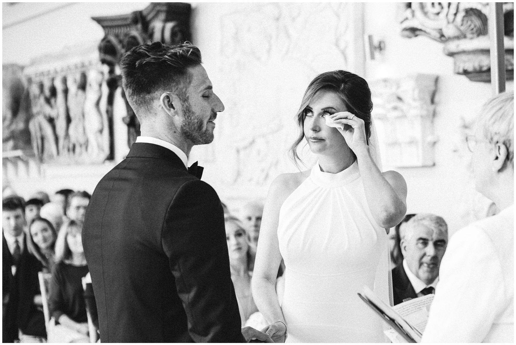 Lucy Davenport Photography, Aynhoe Park, Oxfordshire, wedding venue, Rock My Wedding, Orangery, bride and groom vows