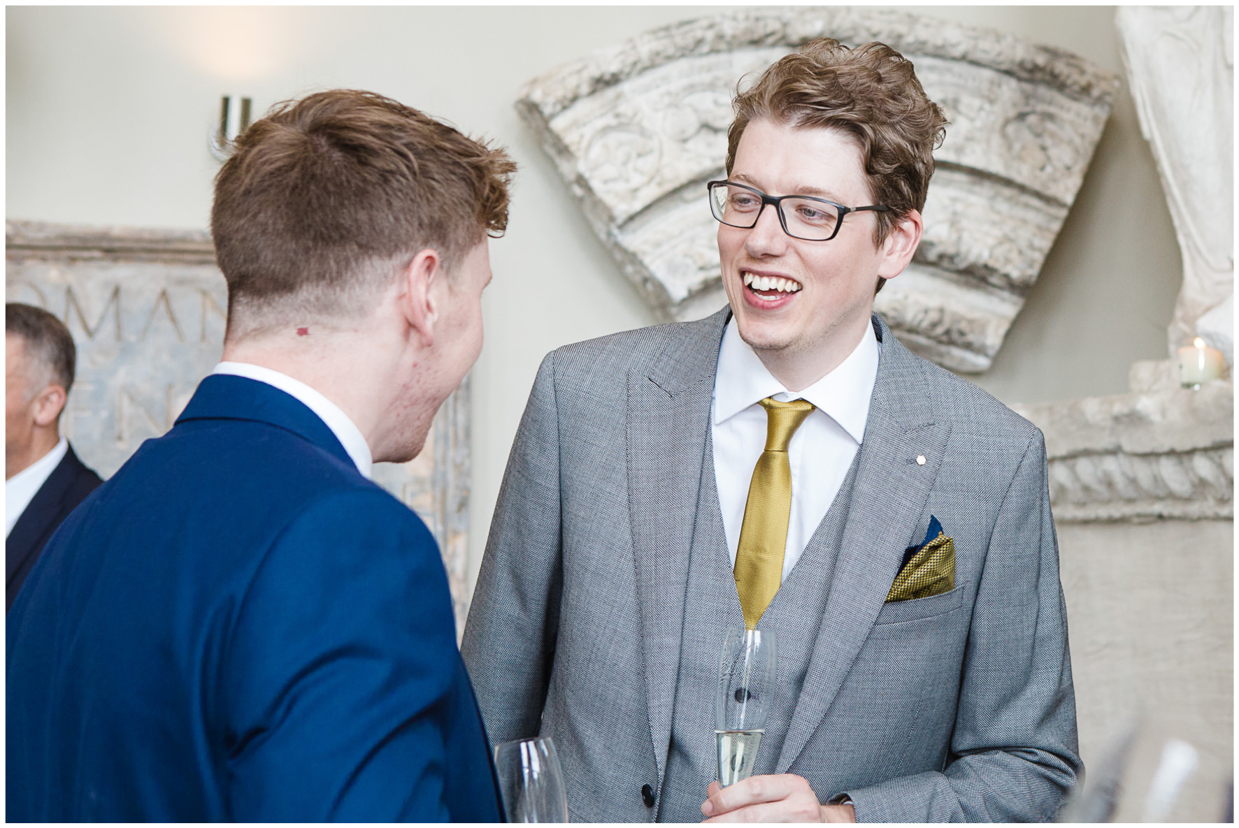 Lucy Davenport Photography, Aynhoe Park, Oxfordshire, wedding venue, Rock My Wedding, Orangery, guests drinks reception
