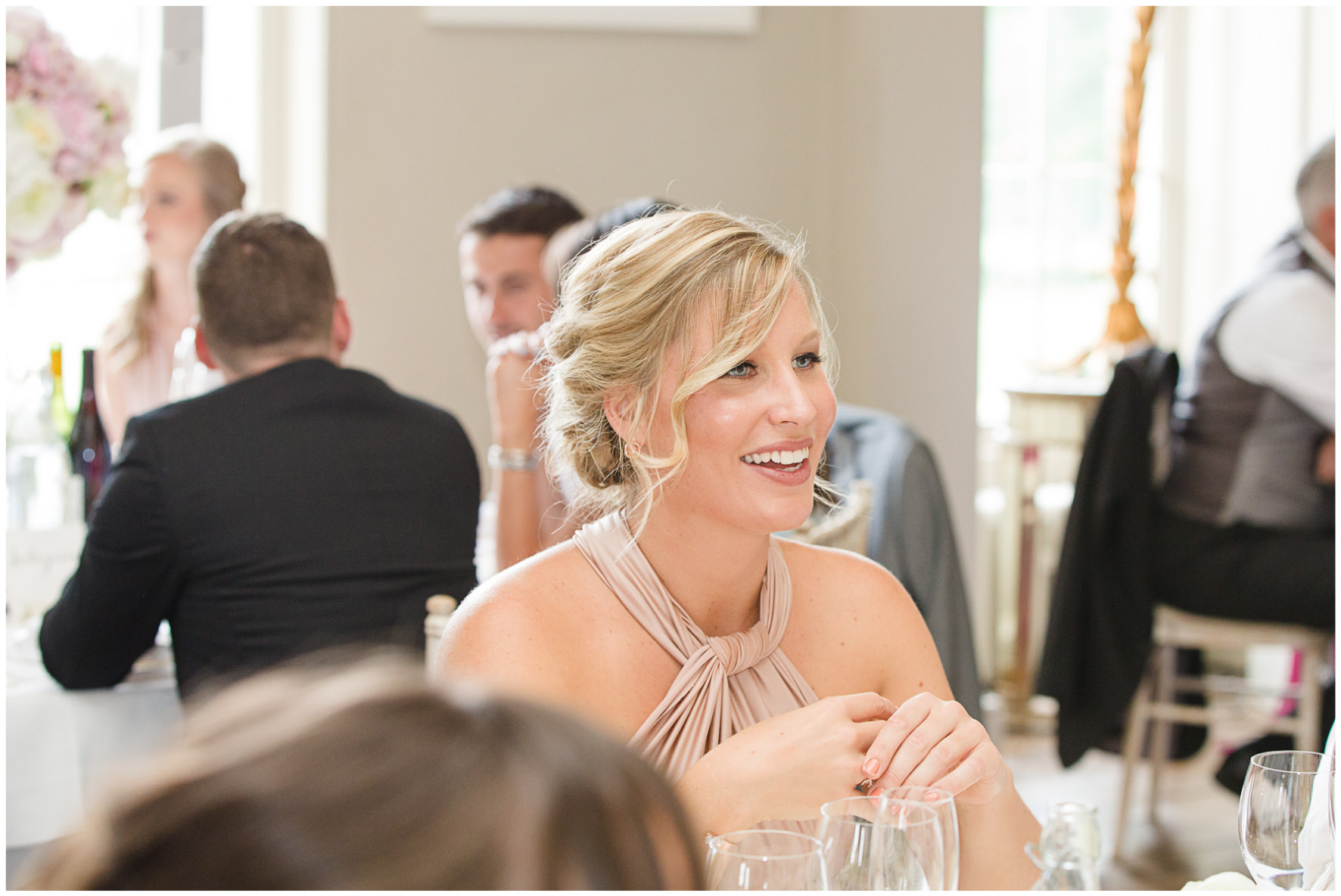 Lucy Davenport Photography, Aynhoe Park, Oxfordshire, wedding venue, Rock My Wedding, speeches, bridesmaid