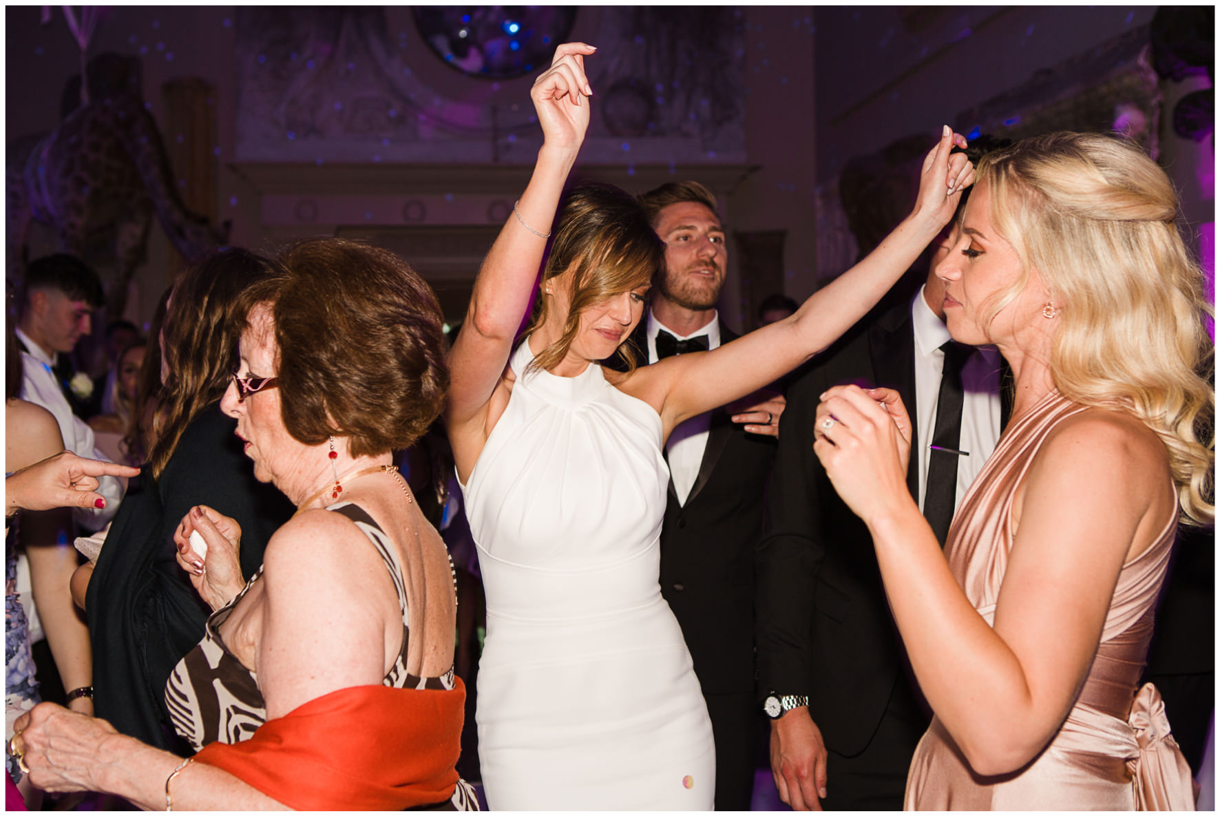Lucy Davenport Photography, Aynhoe Park, Oxfordshire, wedding venue, Rock My Wedding, orangery, bride dancing
