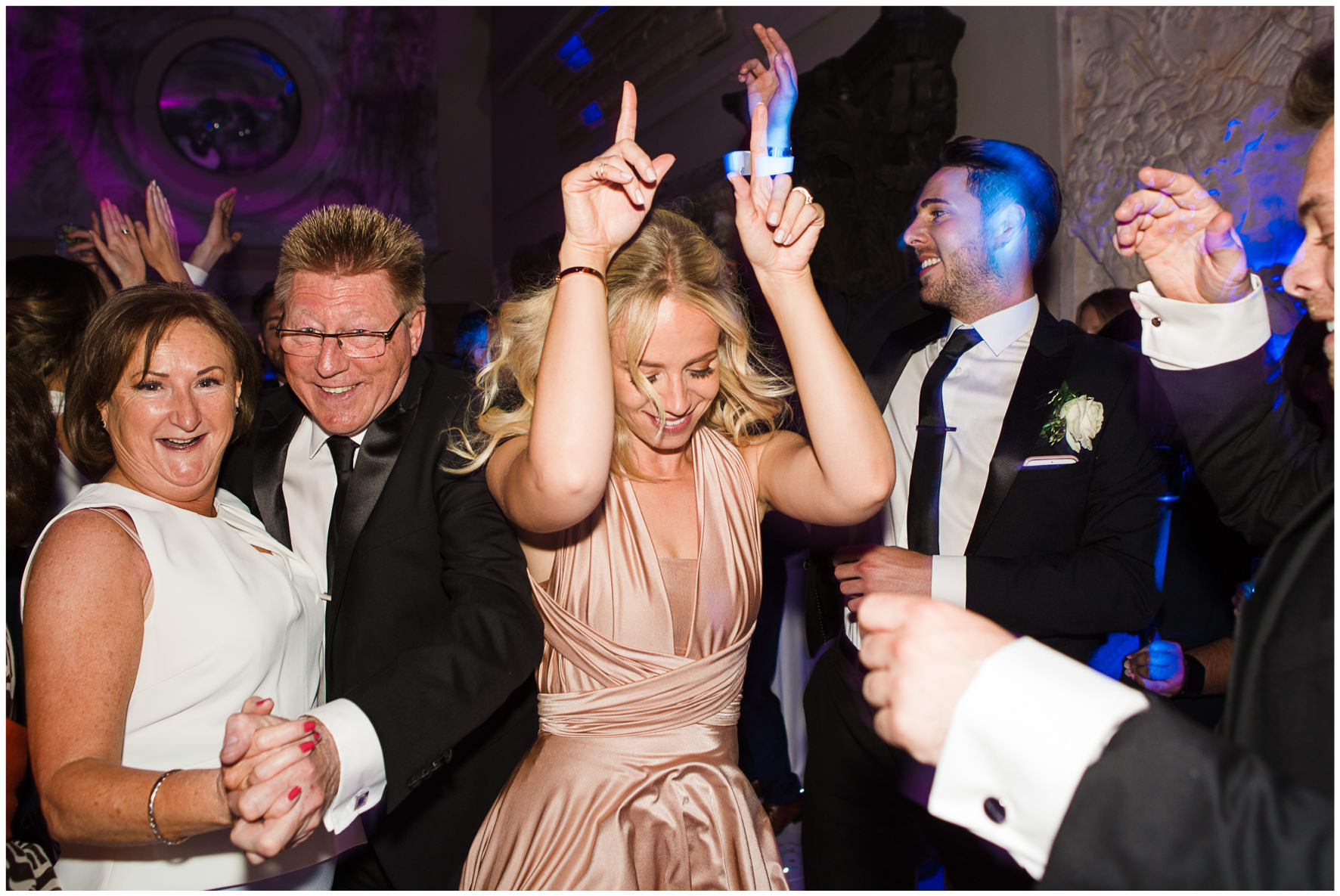 Lucy Davenport Photography, Aynhoe Park, Oxfordshire, wedding venue, Rock My Wedding, orangery, bridesmaid dancing