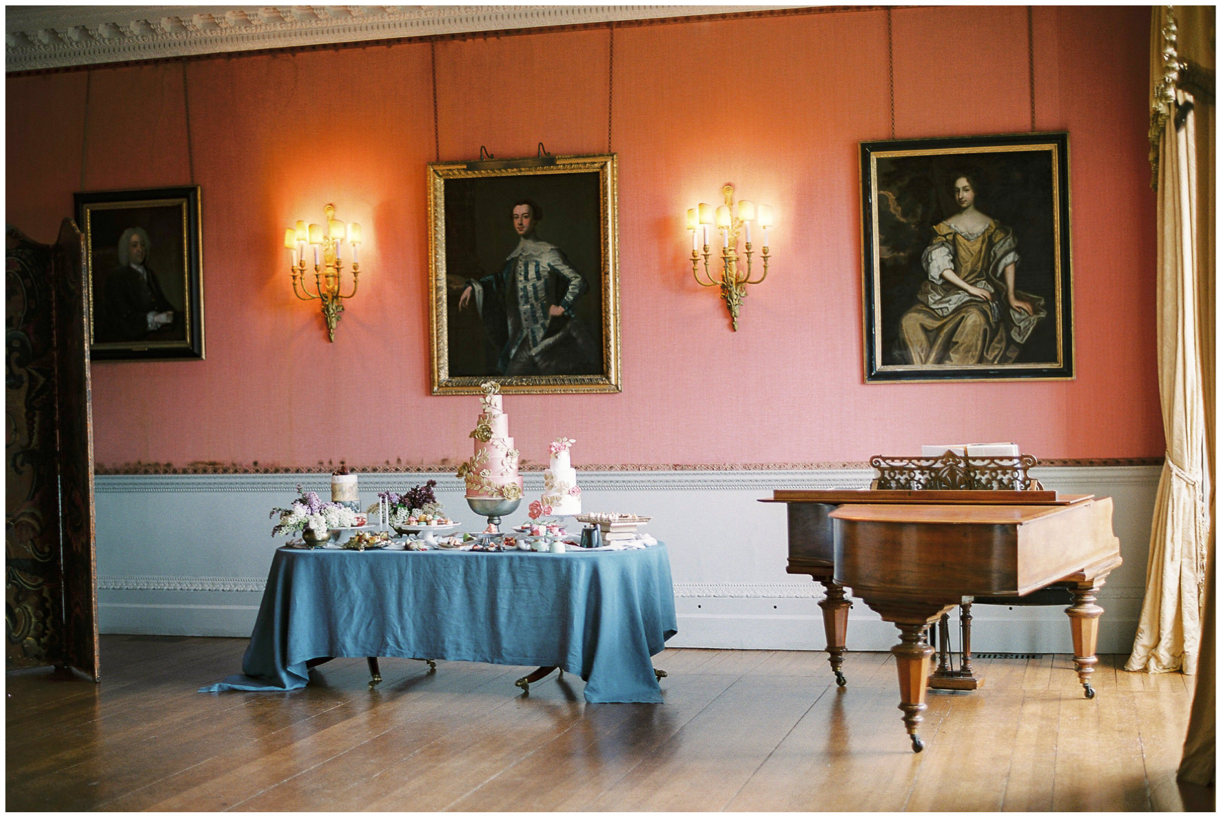 Lucy Davenport Photography, Holdenby House, wedding venue, Northamptonshire, florals, Ronny Colbie, dessert station,