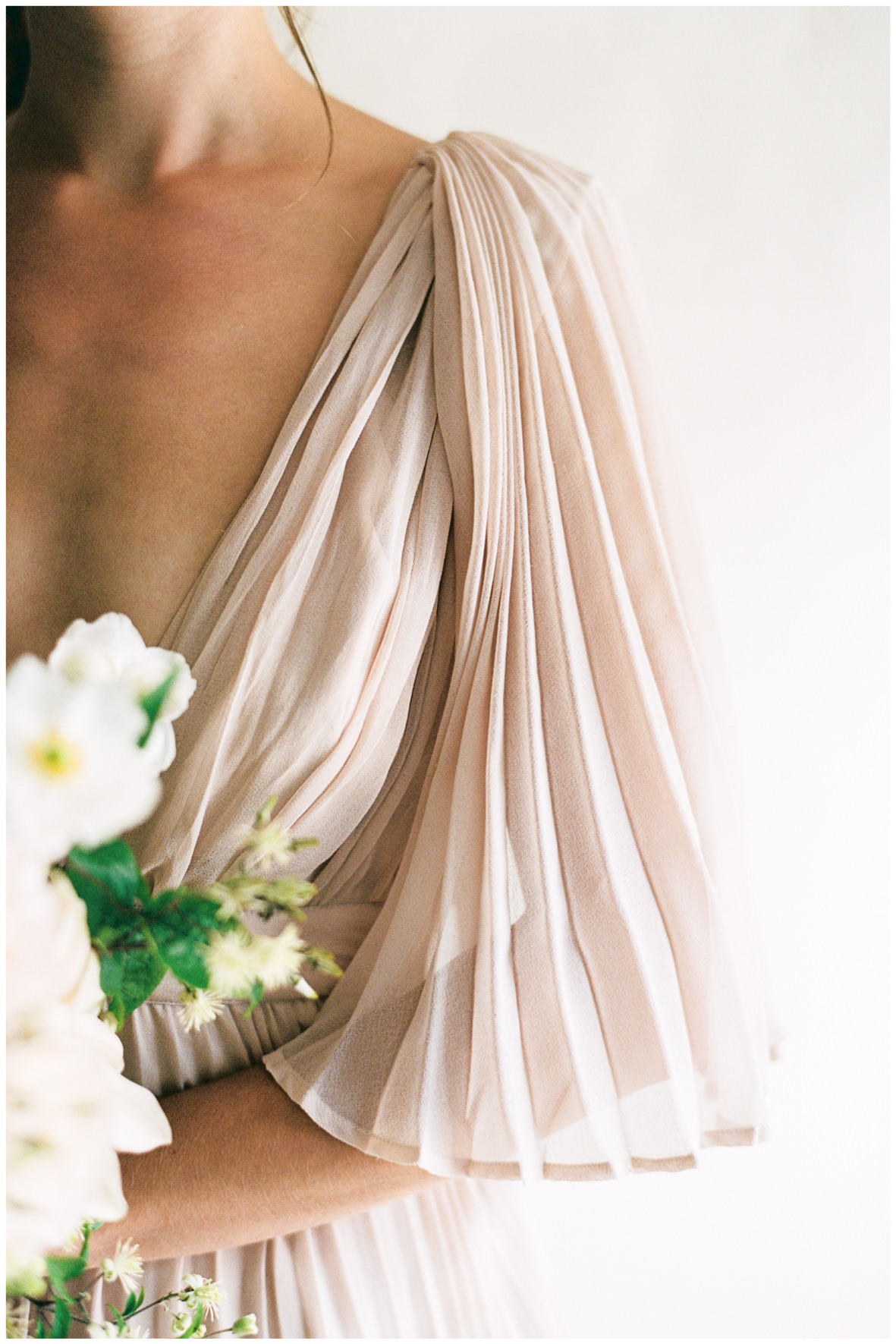Lucy Davenport Photography, Once Wed, Home Creations, The Wedding Stylist, Verity & Thyme, coloured wedding dress, florals, bouquet,