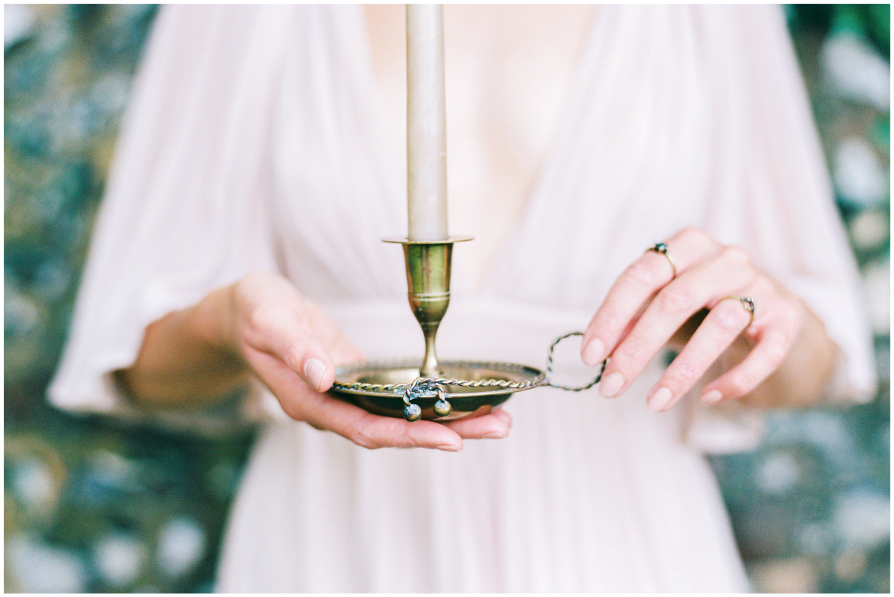 Lucy Davenport Photography, Once Wed, Home Creations, The Wedding Stylist, Verity & Thyme, candleholder, coloured dress