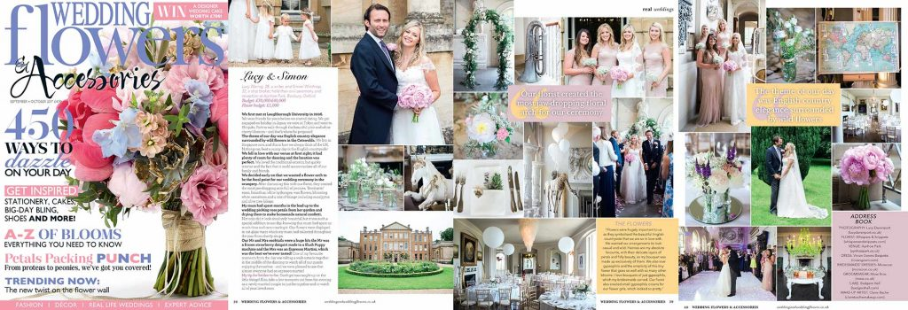 Wedding Flowers magazine Aynhoe Park