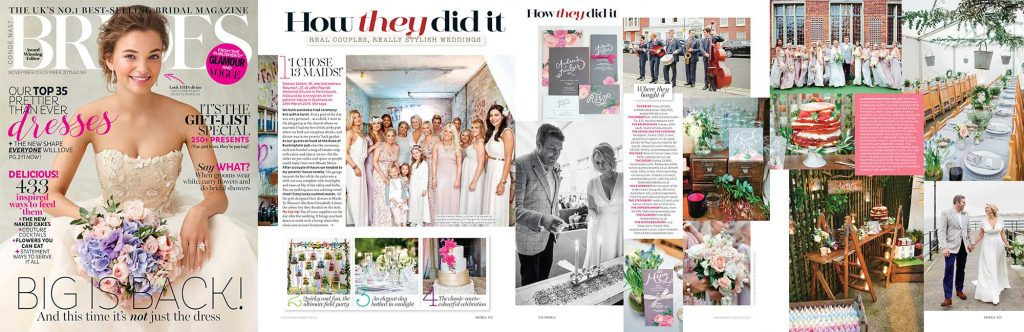 Brides magazine Maids to Measure wedding
