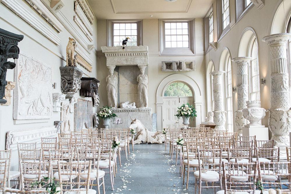 Aynhoe Park orangery wedding ceremony