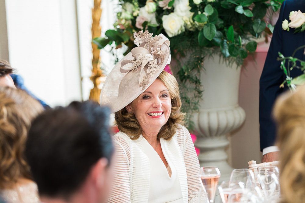 Mother of the bride during speeches