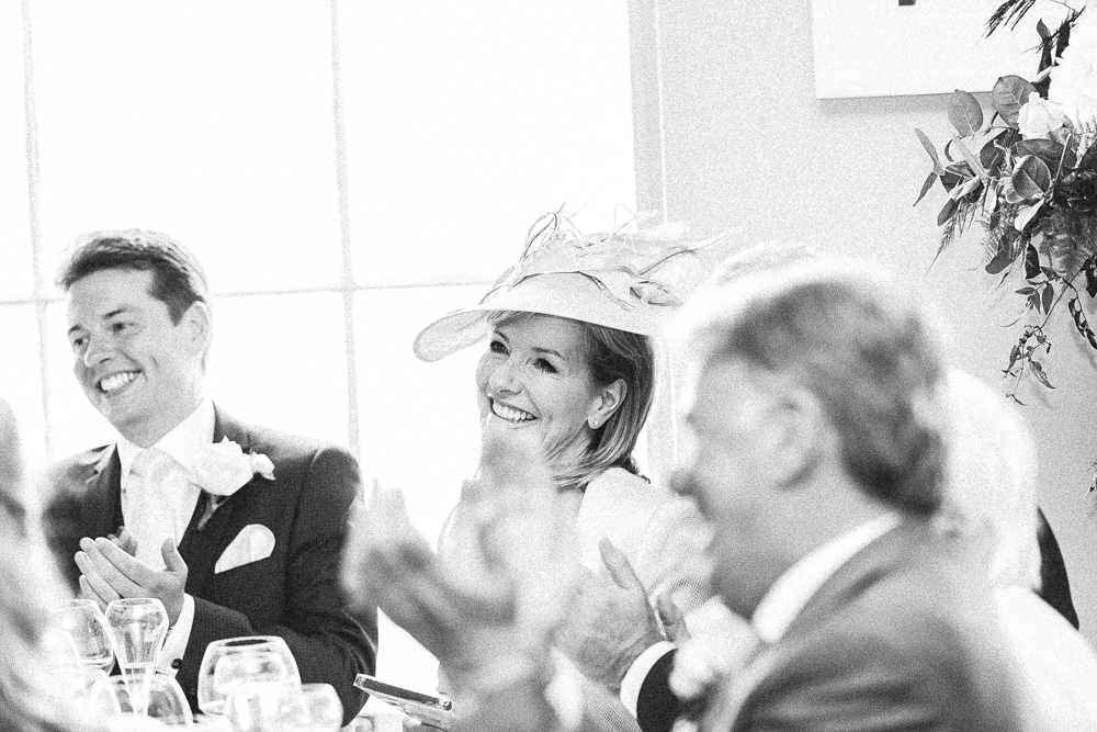 Mother of the groom during speeches