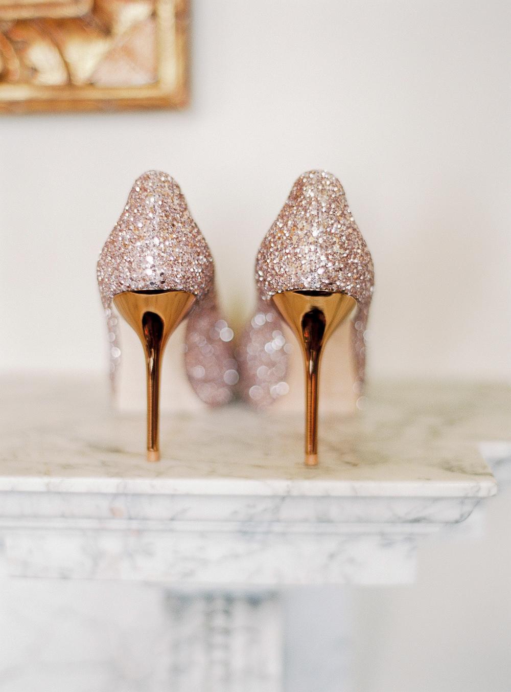 Jimmy Choo glittery wedding shoes