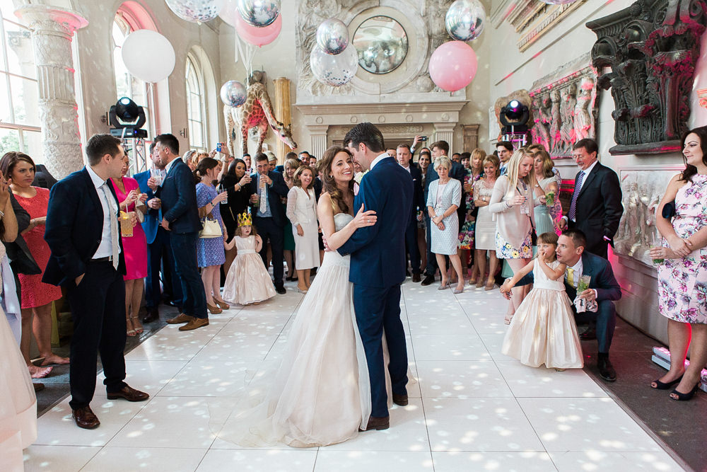 Bride and groom first dance Aynhoe Park