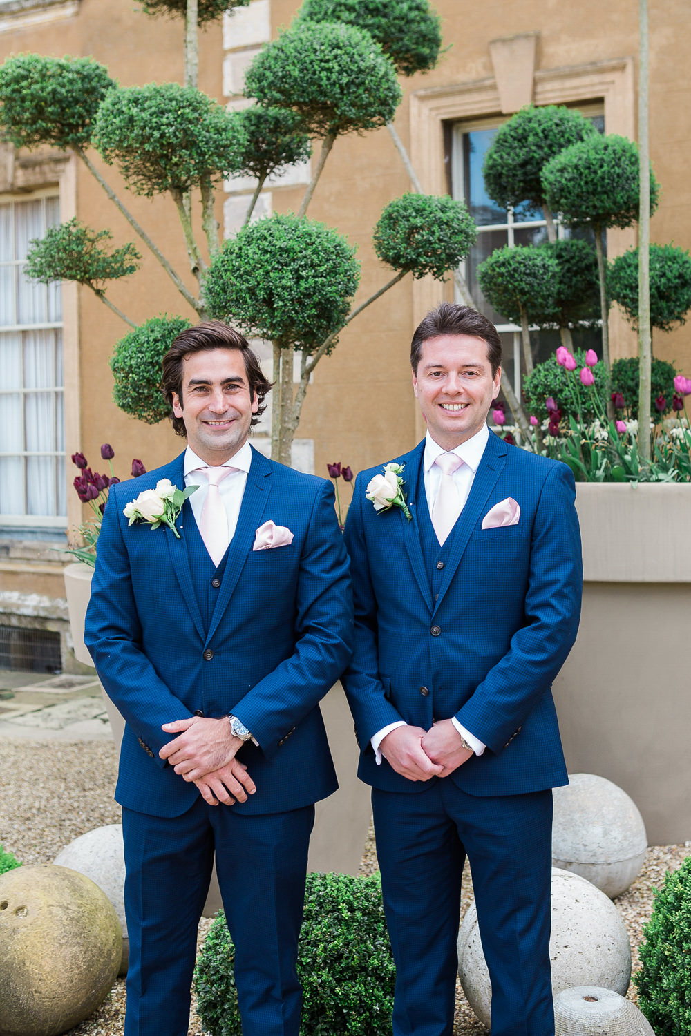 Groom with best man pre ceremony