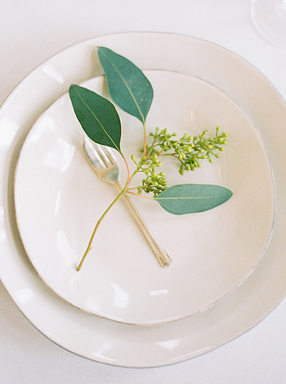 Floral detail on place setting