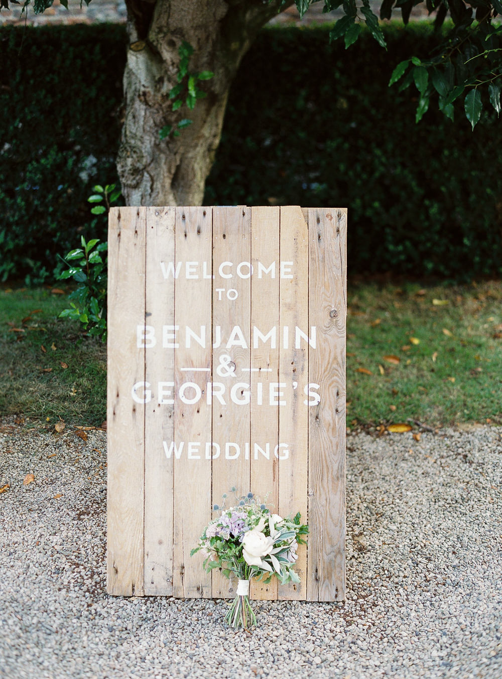 Made by Wood and Wood wedding sign