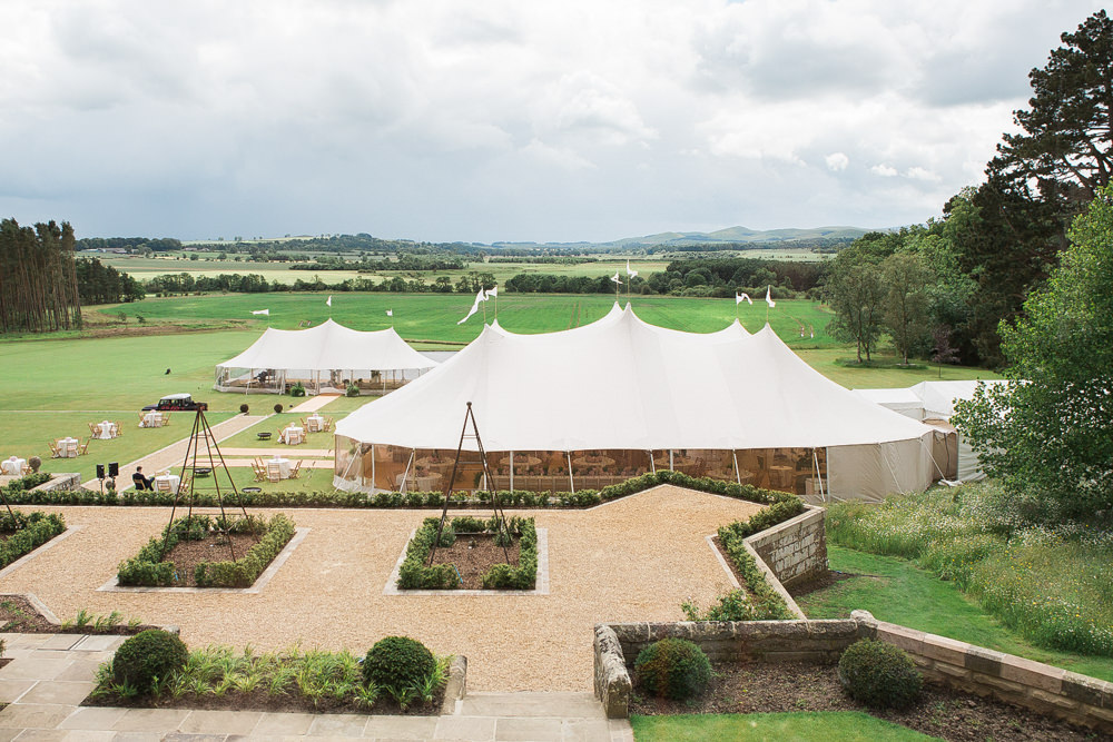 PapaKata Sperry tent home wedding