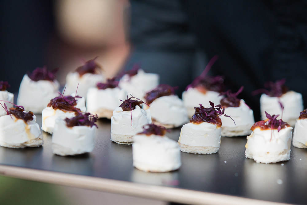 Canapés served on slate