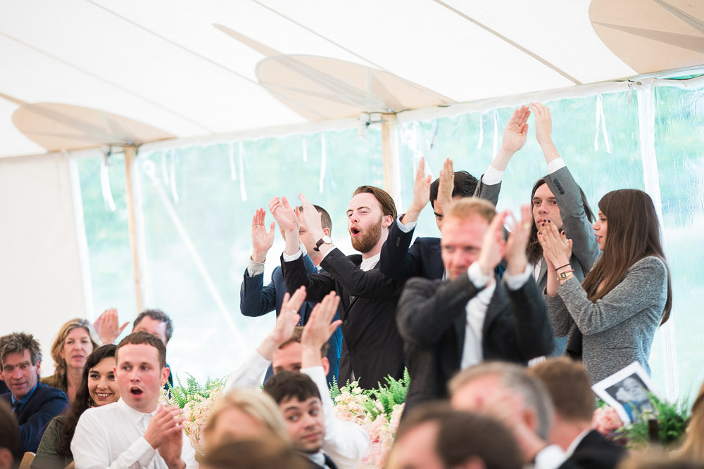 Standing ovation for wedding speeches