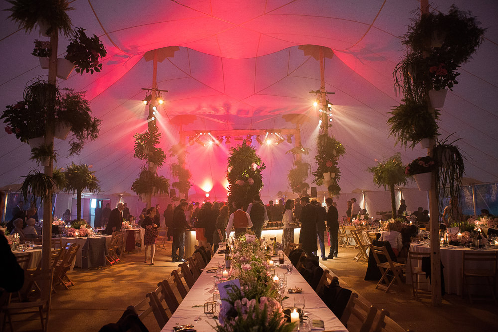 PapaKata Sperry tent interior for party