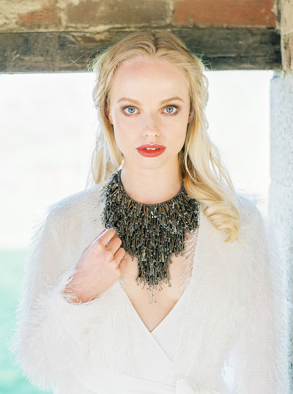 Charlie Brear bridal. Statement necklace
