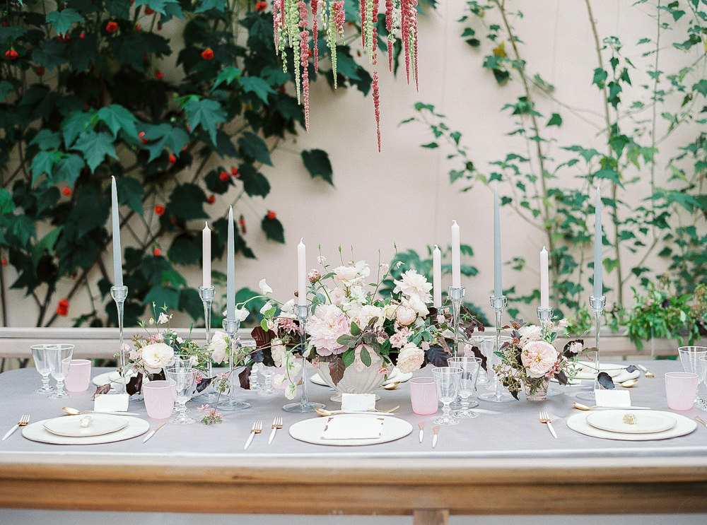 Tablescape in Sezincote Orangery