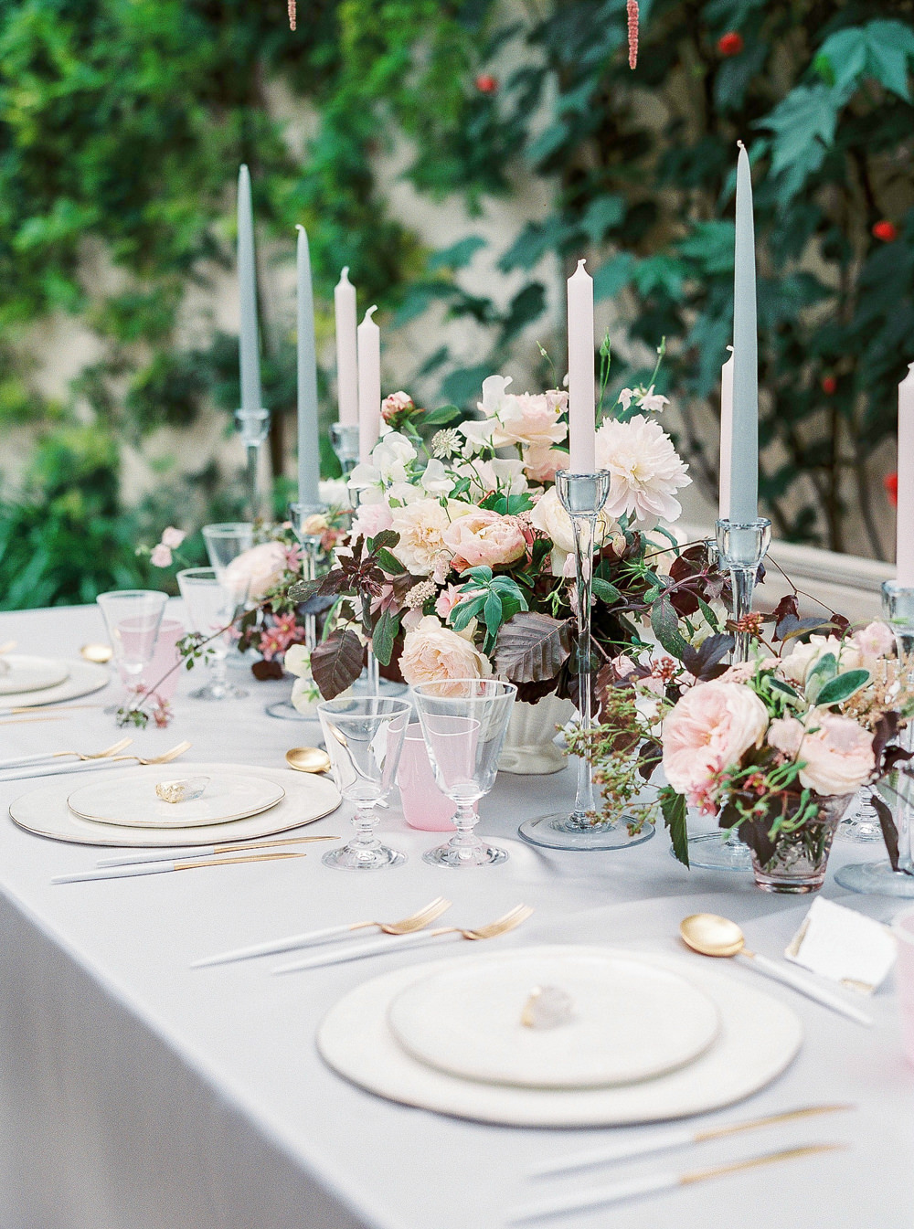 Wedding breakfast tablescape