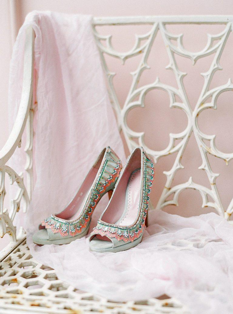 Emmy London coloured wedding shoes