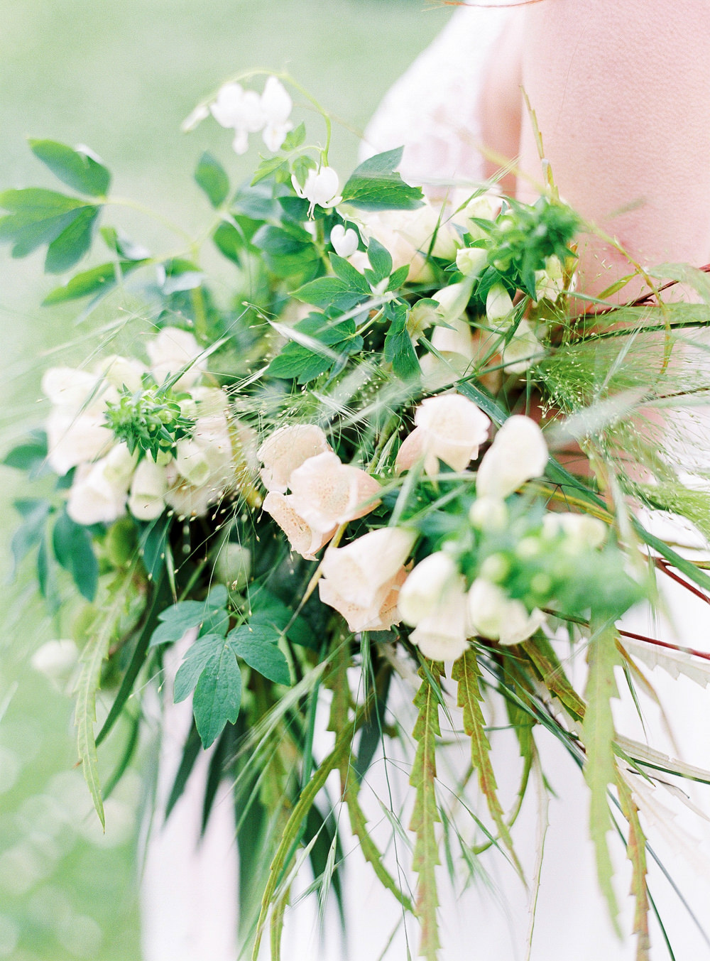Foxglove and greenery bouquet