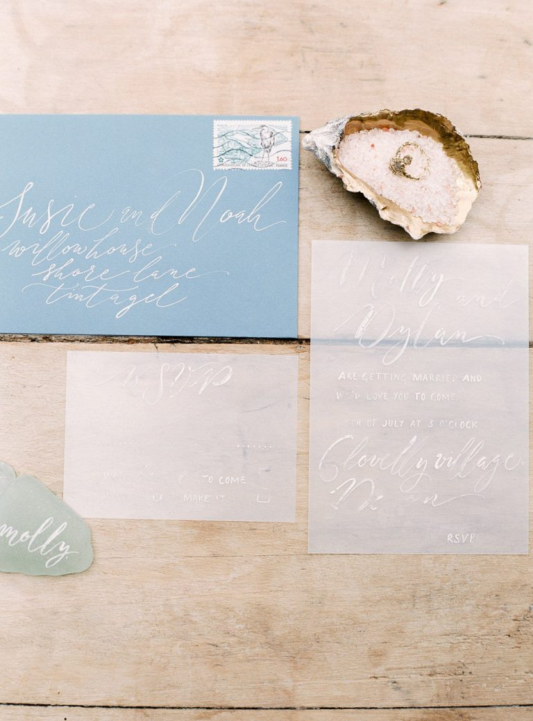 Opaque wedding stationery