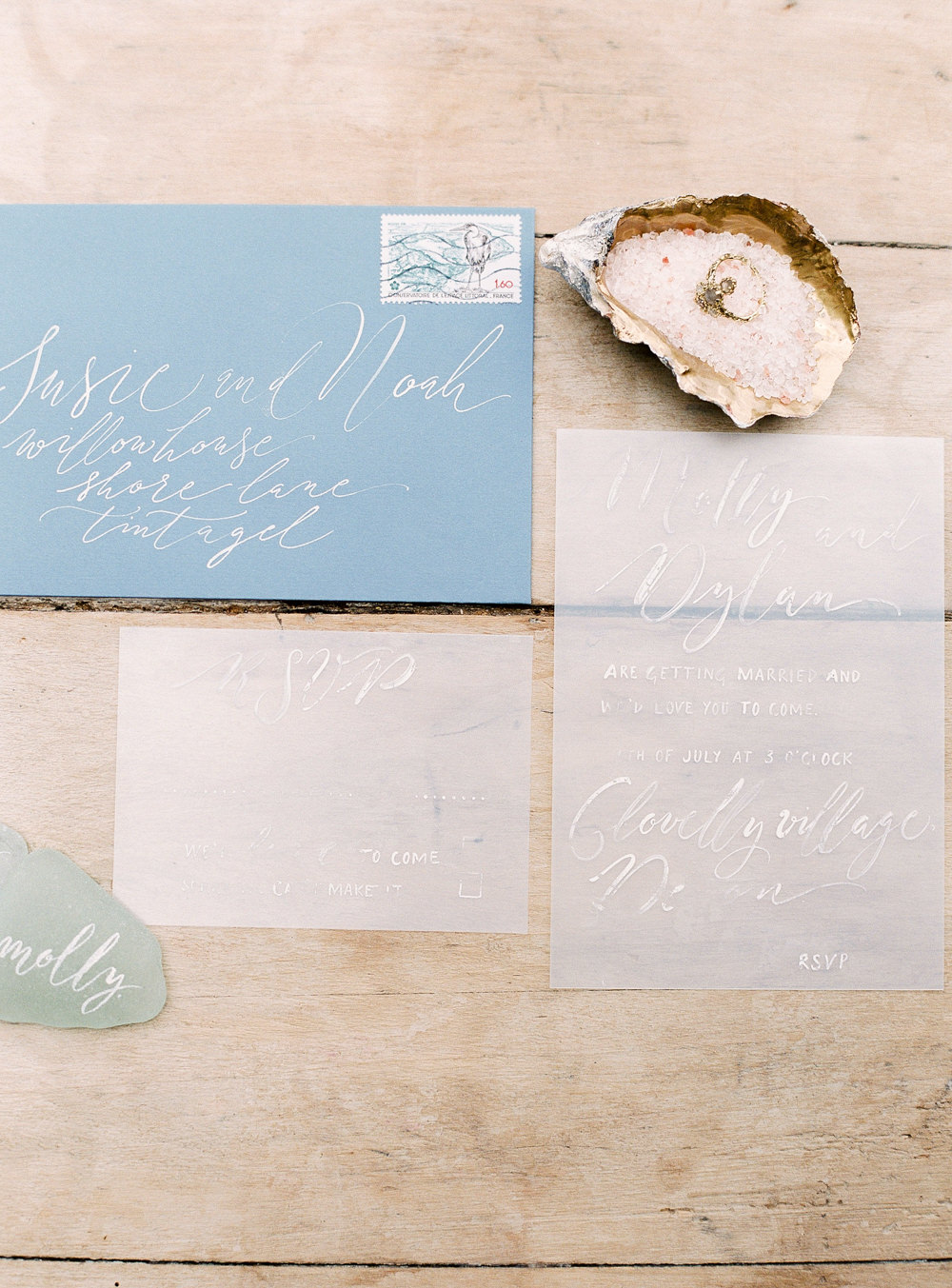 Opaque wedding stationery