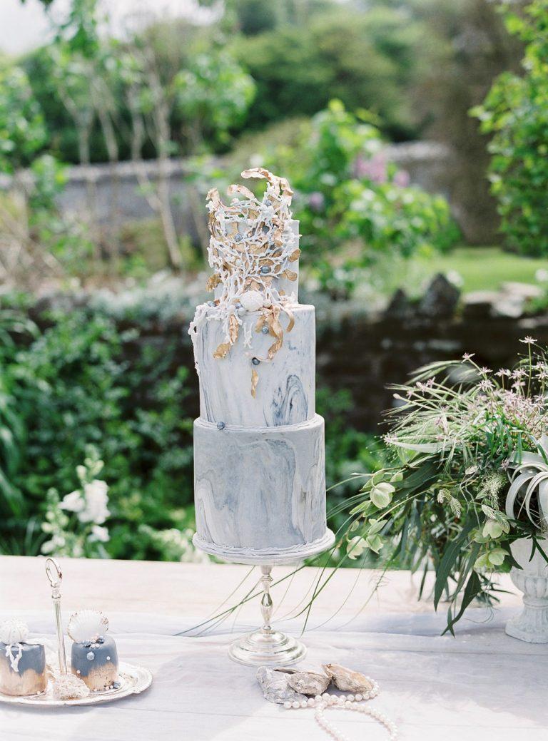 Sea inspired wedding cake