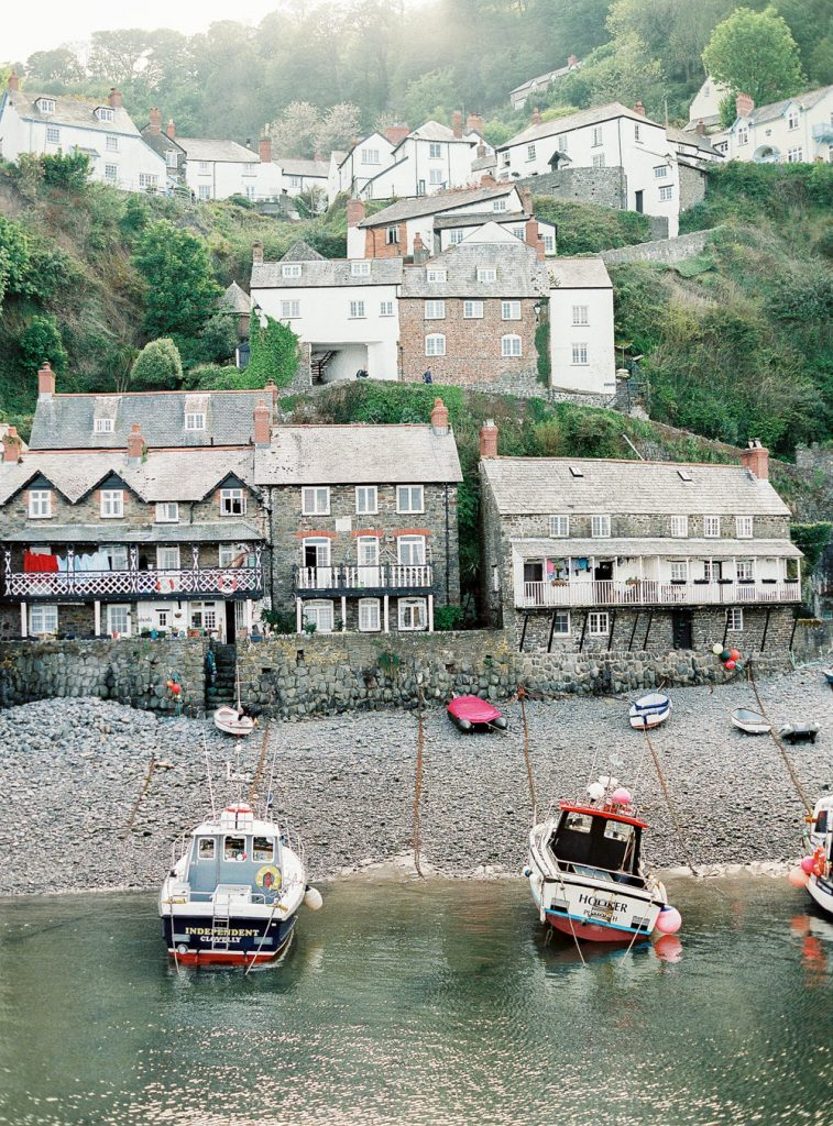 Clovelly boats on shore