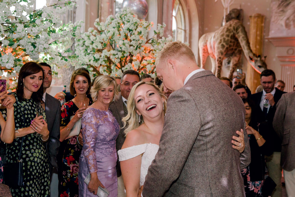 Bride and grooms first dance at Aynhoe Park
