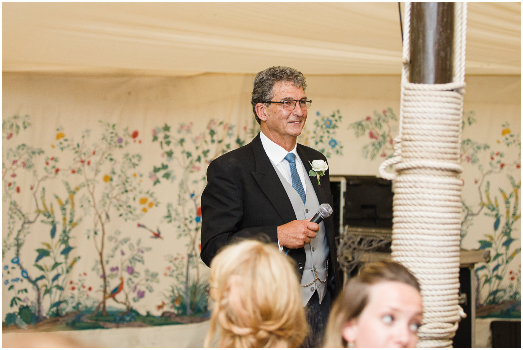 Lucy Davenport Photography, Cornwell Manor, wedding venue, Oxfordshire, Cotswold wedding, marquee wedding, marquee, wedding breakfast, speeches, father of the bride