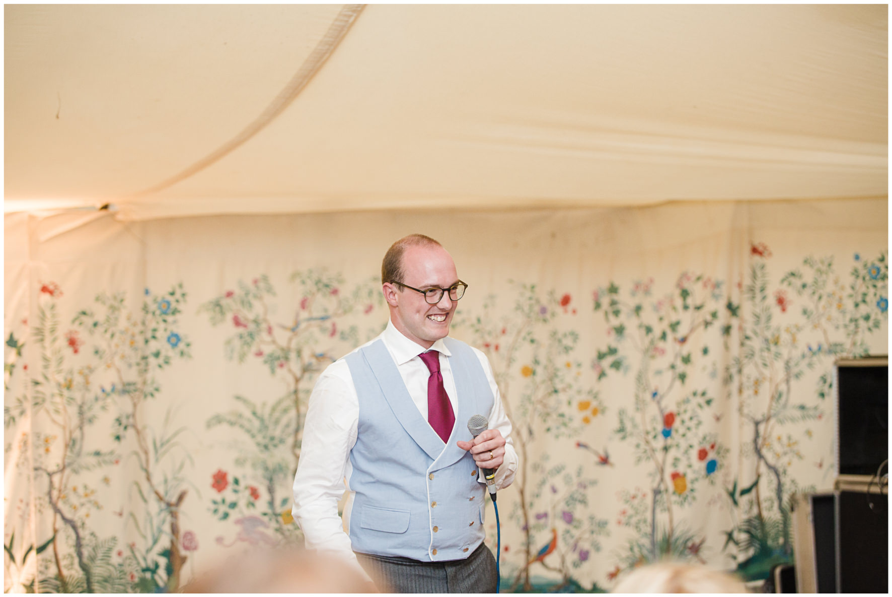 Lucy Davenport Photography, Cornwell Manor, wedding venue, Oxfordshire, Cotswold wedding, marquee wedding, marquee, wedding breakfast, speeches, groom