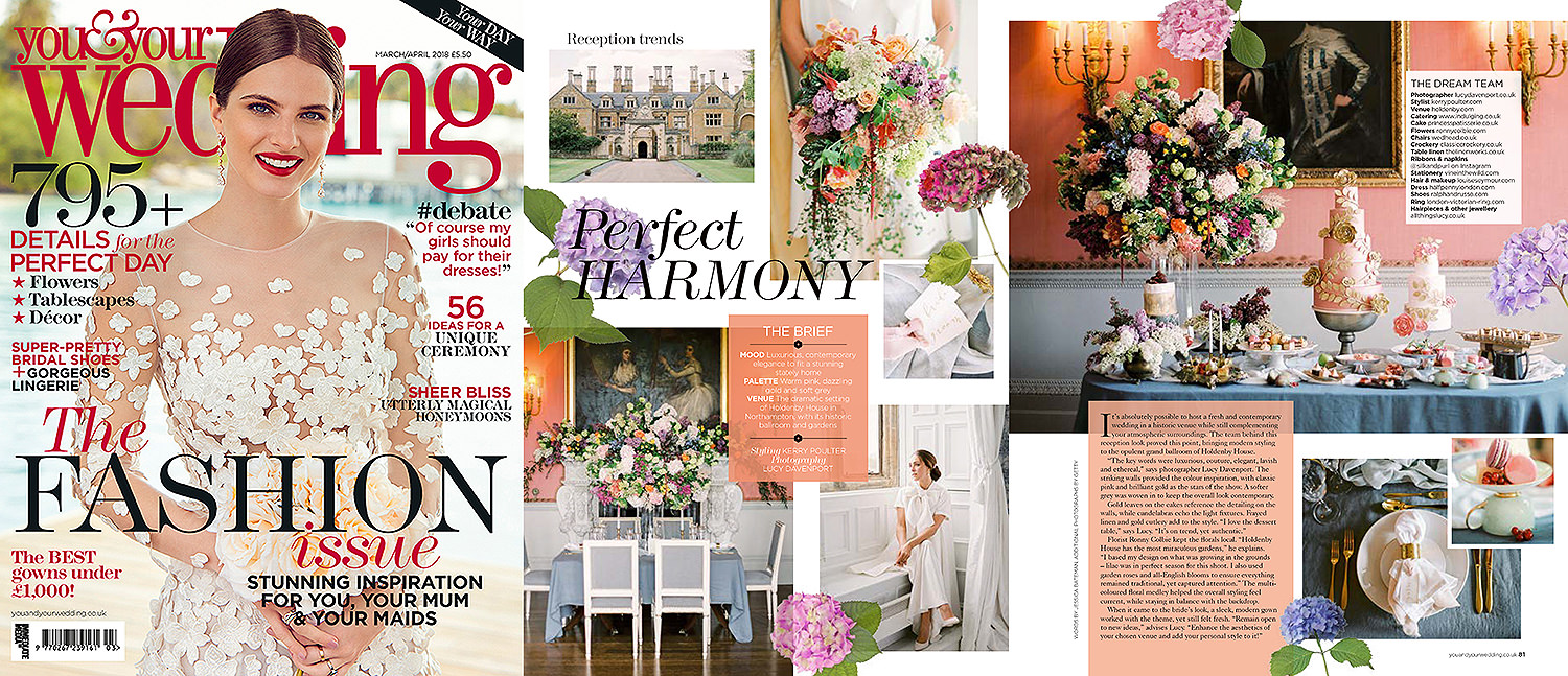 Lucy Davenport Photography, You & Your Wedding feature, Holdenby House