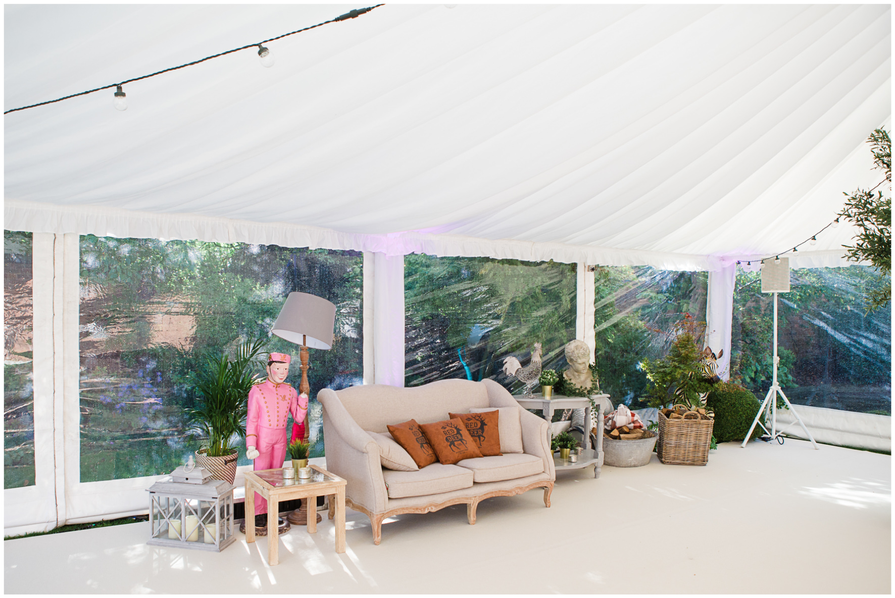 Lucy Davenport Photography, home wedding, marquee wedding, decor, chill out area