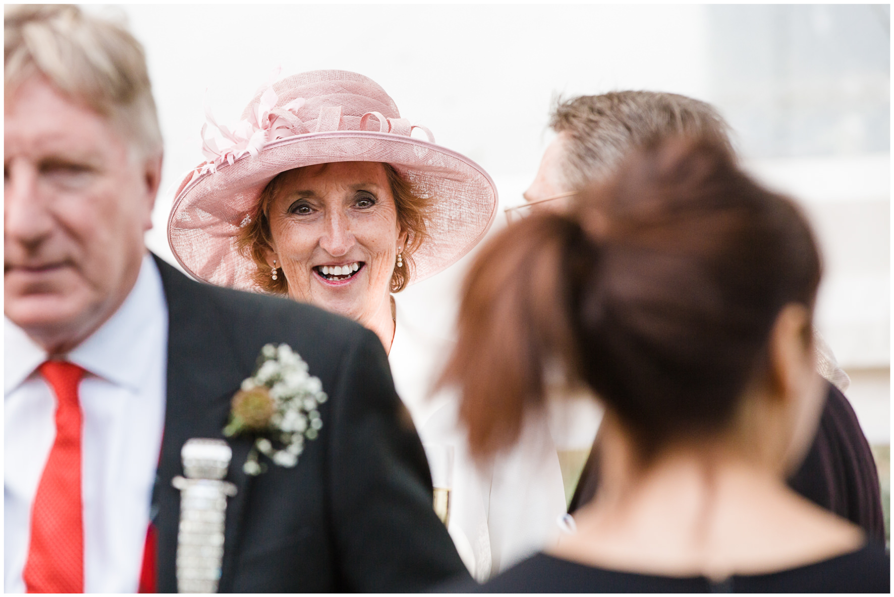 Lucy Davenport Photography, home wedding, marquee wedding, guests, drinks reception