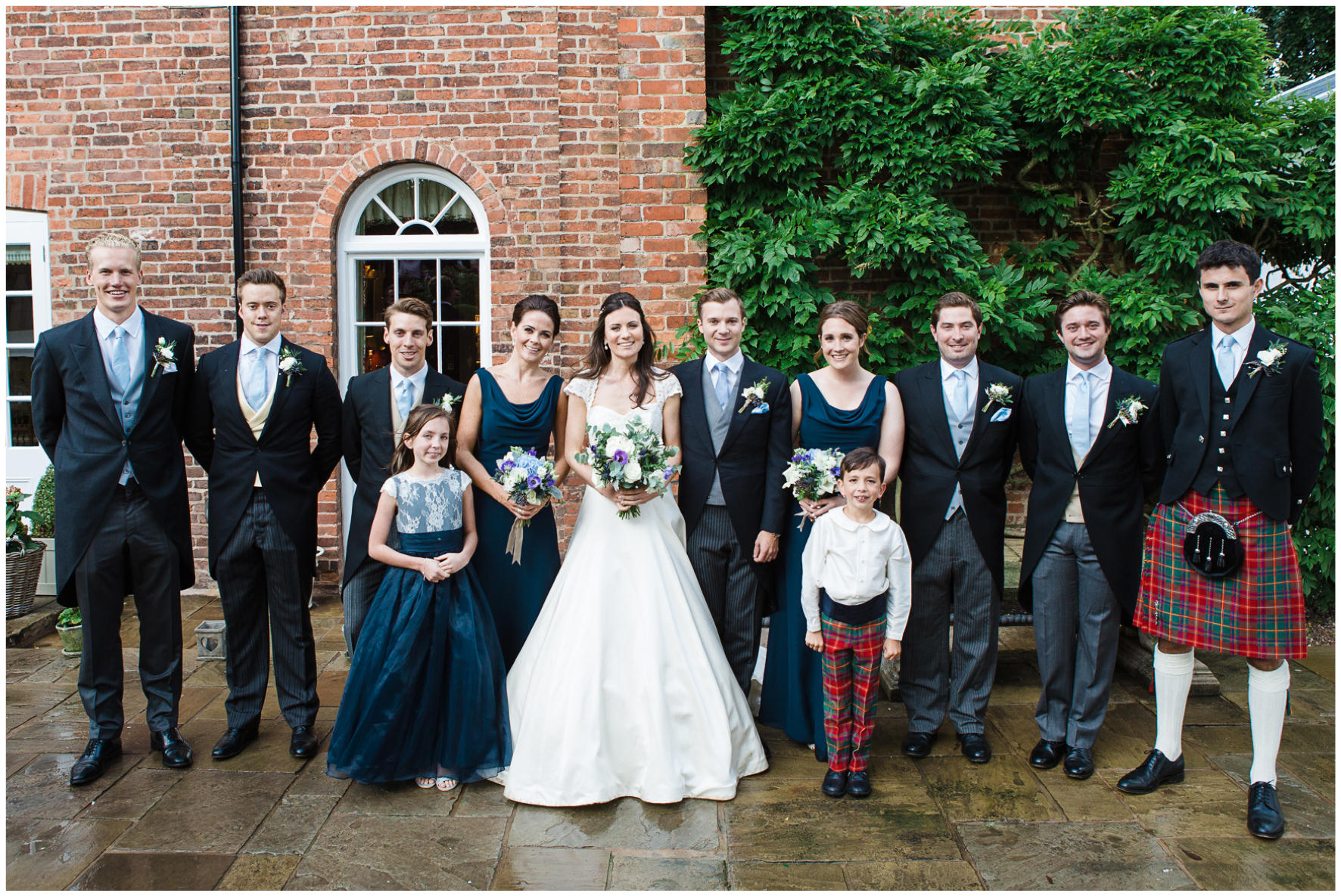 Lucy Davenport Photography, home wedding, marquee wedding, wedding party