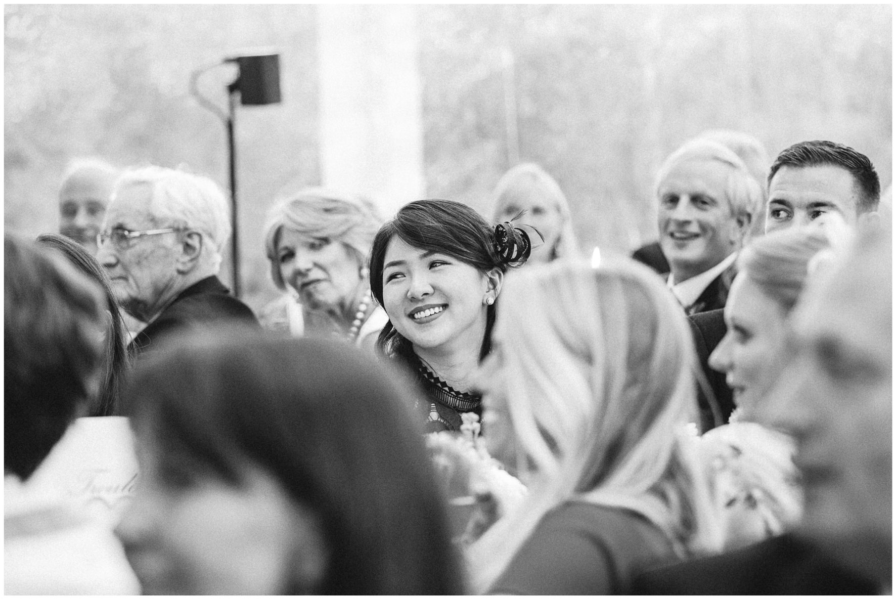 Lucy Davenport Photography, home wedding, marquee wedding, clear marquee, wedding guests, wedding breakfast
