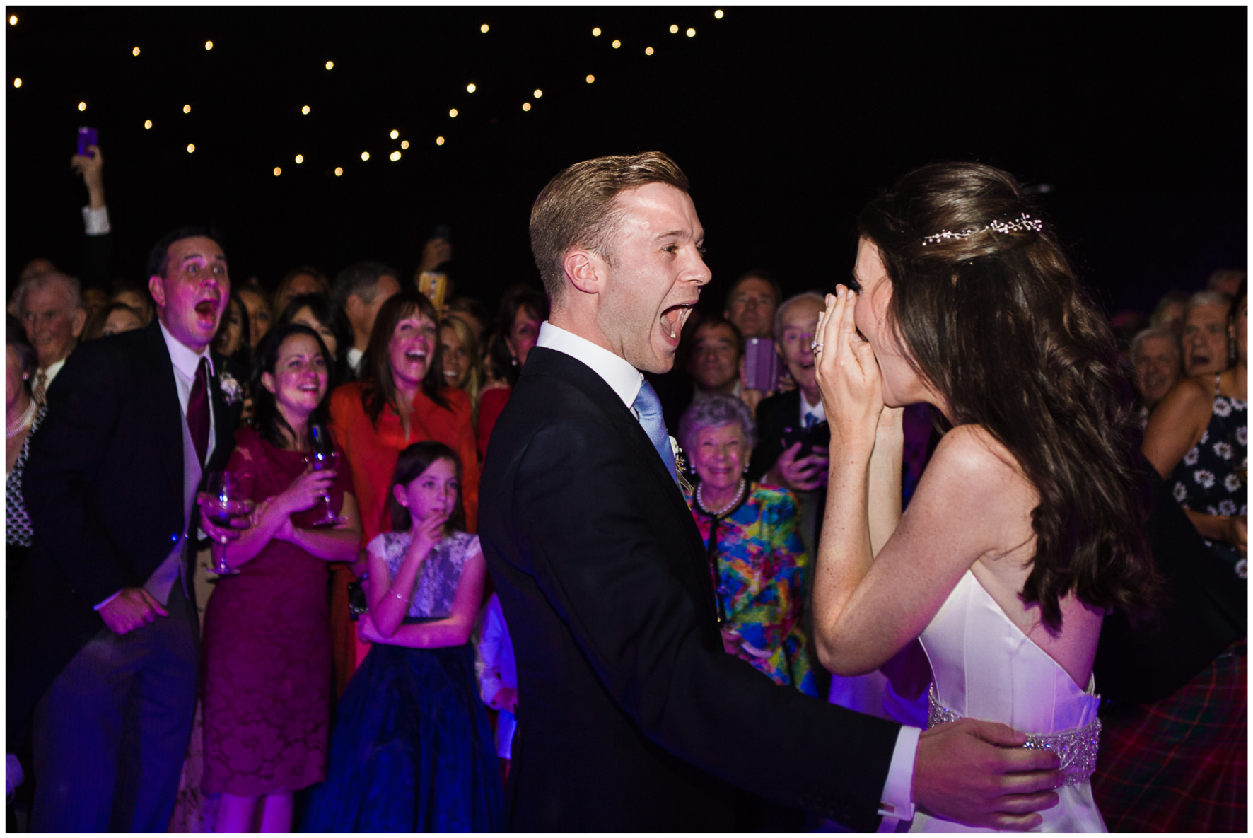 Lucy Davenport Photography, home wedding, marquee wedding, surprise first dance, The Lighthouse Family