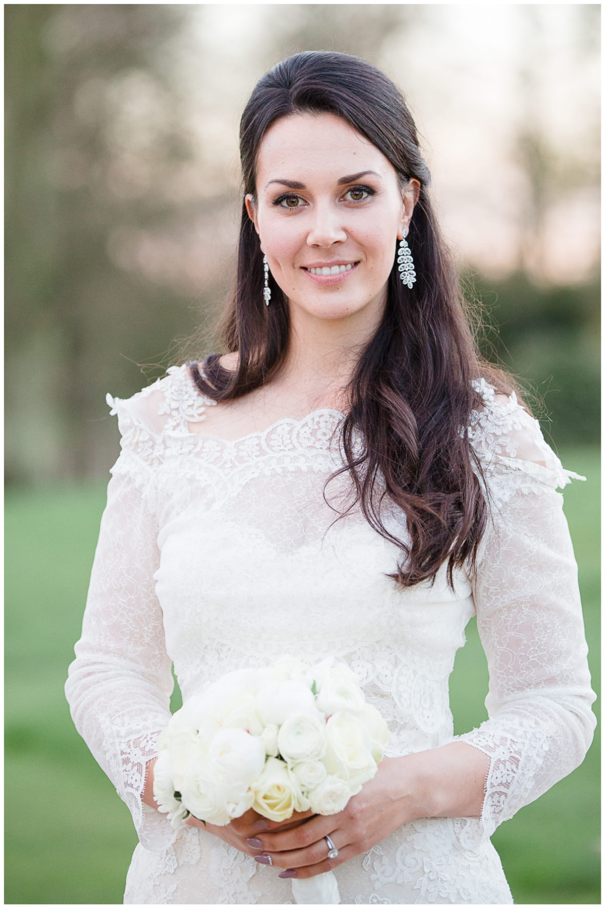 Lucy Davenport Photography, Katrina Otter Weddings, Chippenham Park, bride, bridal portrait