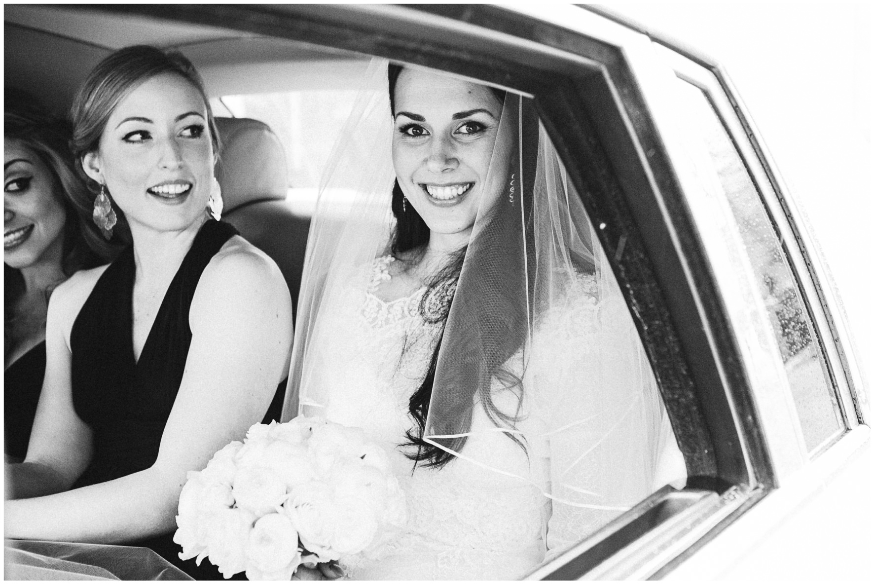 Lucy Davenport Photography, Katrina Otter Weddings, Chippenham Park, church wedding, bride, bridal car