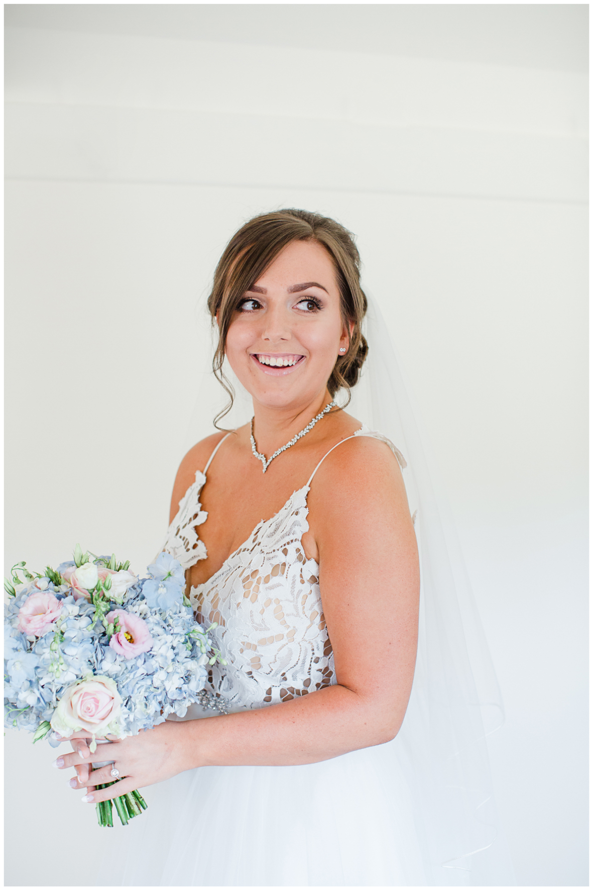 Bride wearing Hayley Paige