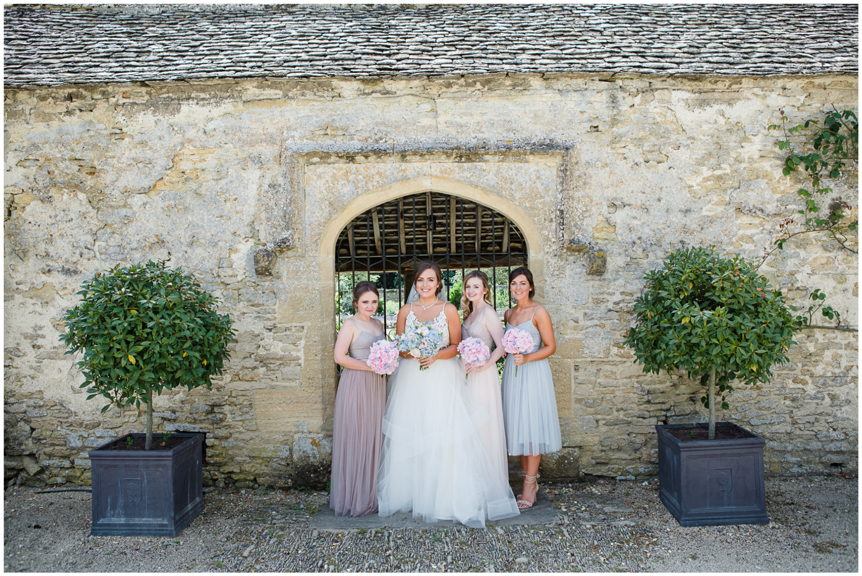 Bride and bridesmaids, Caswell House
