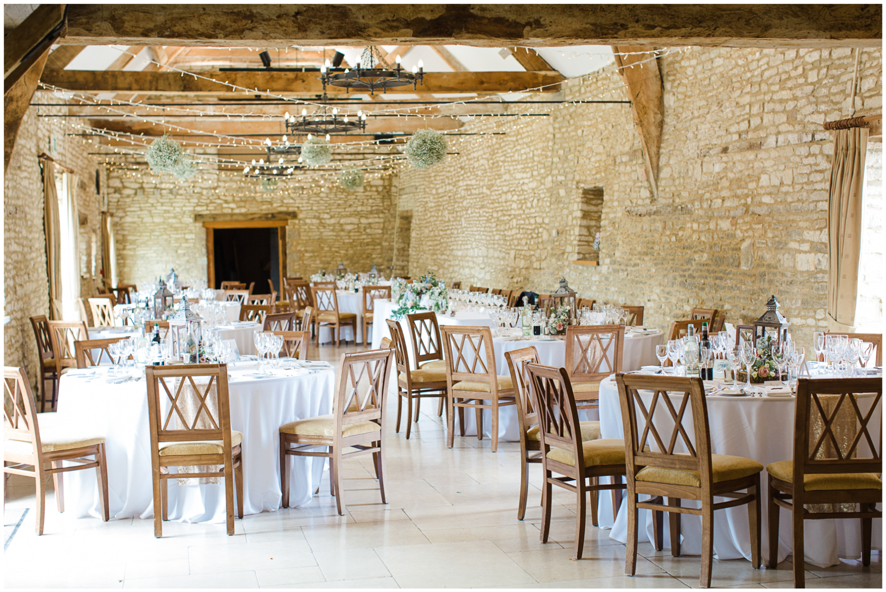 Wedding breakfast, Caswell House, barn wedding