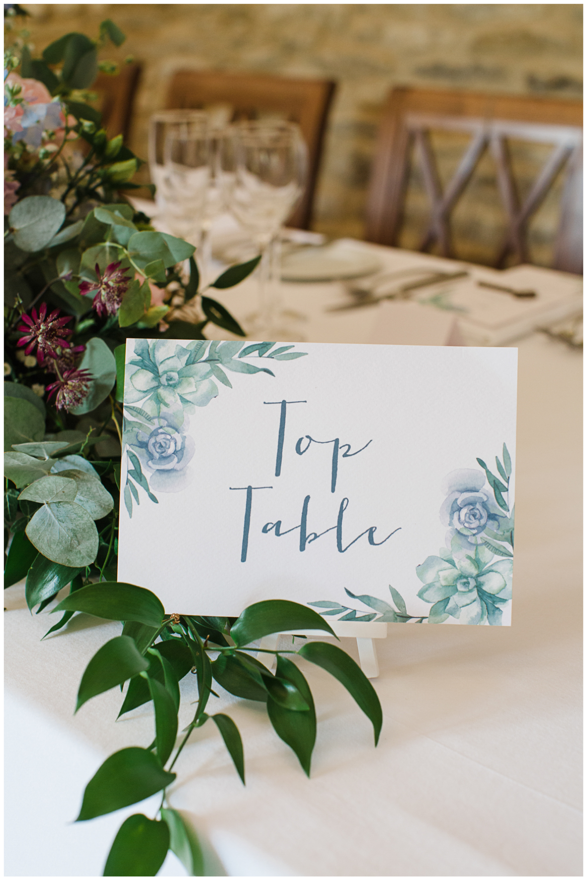 Top table, wedding signage,