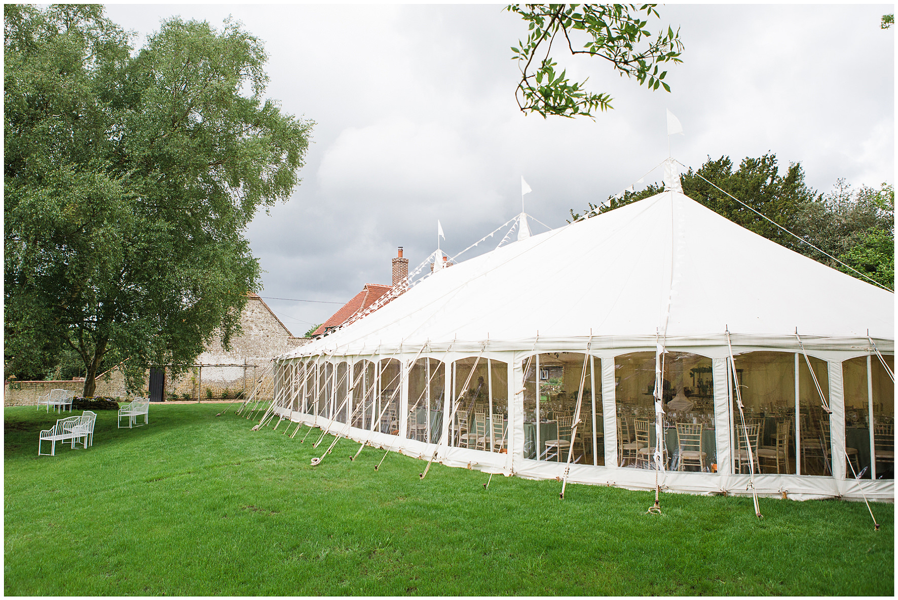South Downs marquee wedding, Wigwam Marquees