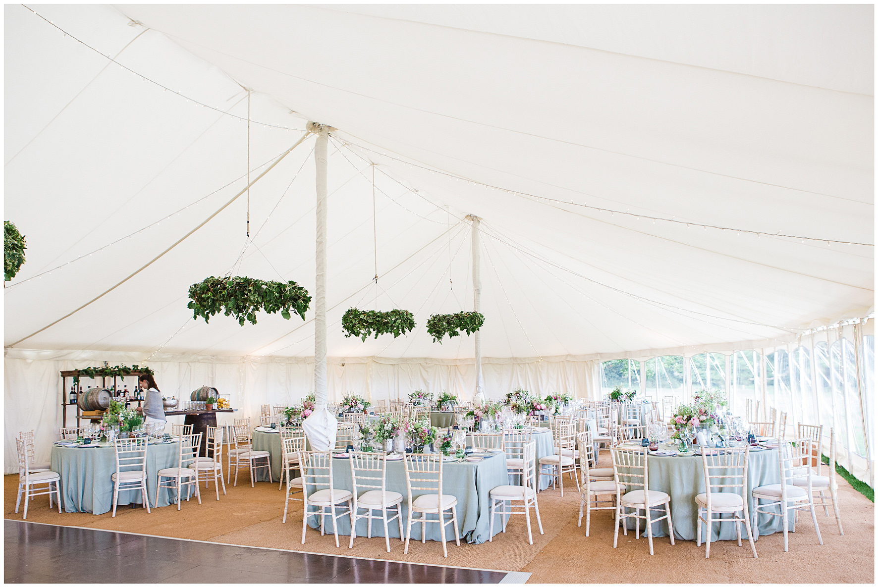 Marquee wedding interior, Wigwam weddings