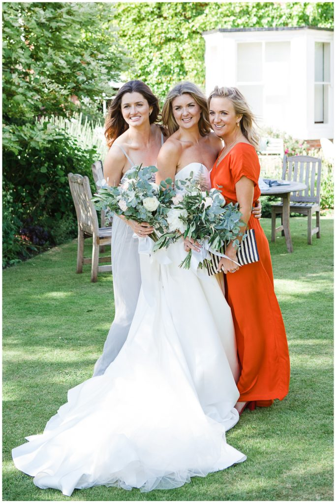 Bride with two girl friends.